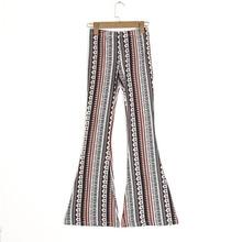цена Ethnic Geometric Print Flare Pants Women Bohemian Tribal African Print Long Trousers Bell Bottom Leggings Hippie Pants 2 colors онлайн в 2017 году