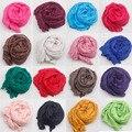Новинка 2015 шарф женщин урожай дамы сплошной цвет черный красный белый шарфы основовязальных платок женский bufanda mujer
