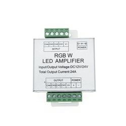 MOKUNGIF LED RGBW wzmacniacz DC12/24 V 24A 4 kanał wyjściowy RGBW taśmy LED wzmacniacz mocy sterownik konsoli w Kontrolery RGB od Lampy i oświetlenie na