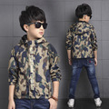 2017 hot sell fashion Child Boys Camouflage Outerwear Jacket Spring Autumn Kid Long Sleeve Hooded Jackets