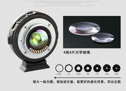 Amopofo EF-M2 automatyczne ustawianie ostrości adapter 0.71x przysłony do Canon EF do M43 obiektyw