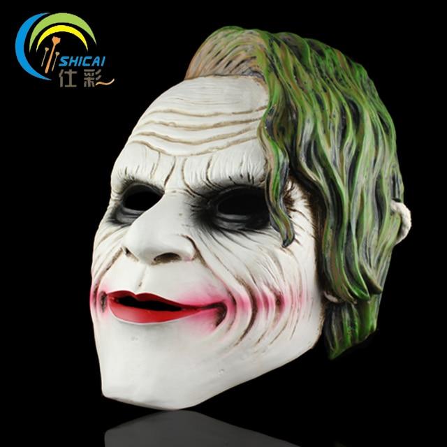 Mask Joker of Batman Dark Knight for Party Halloween Christmas Cosplay  Resin Mask Adults Full Face 05b6ce0b8f