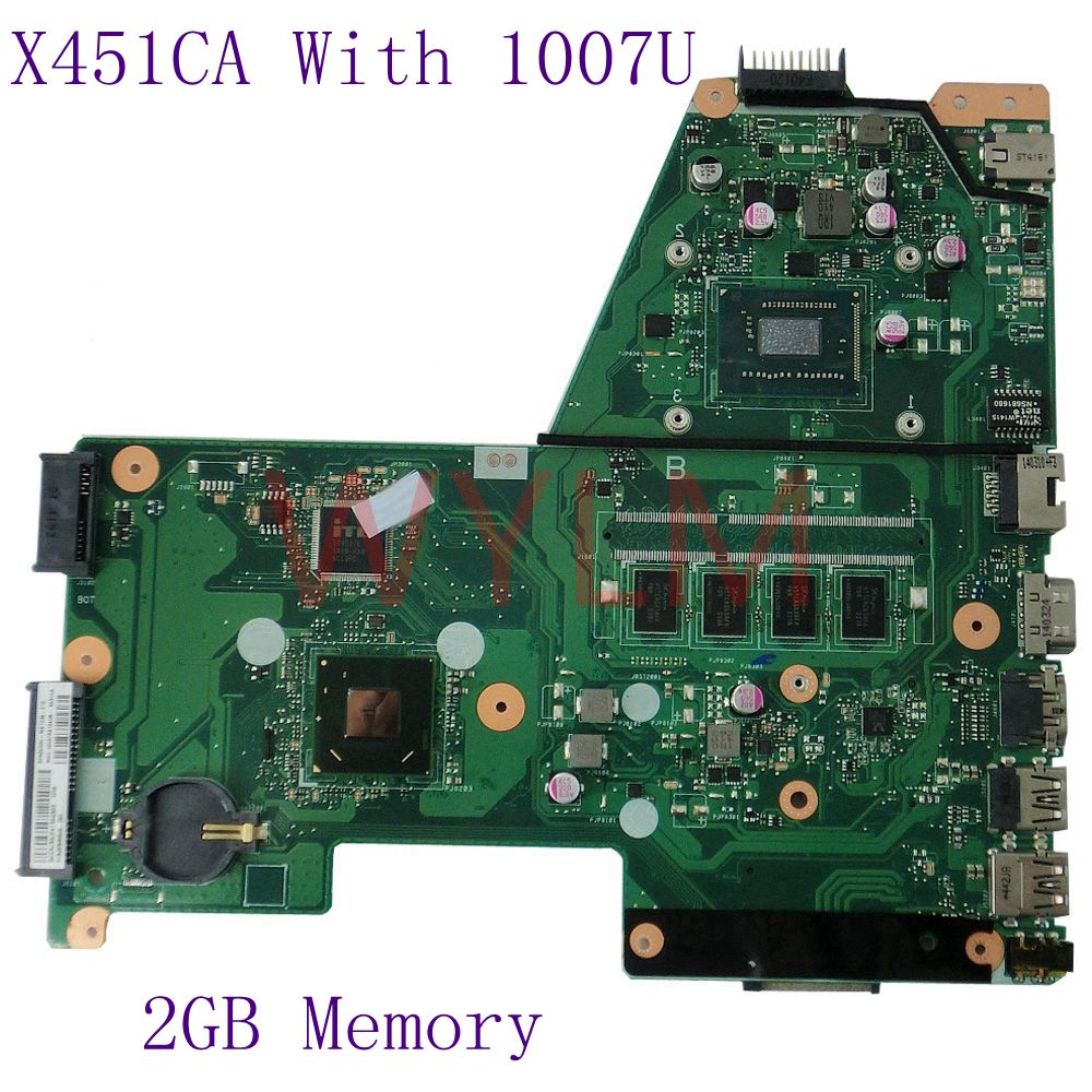 X451CA With 1007 CPU REV2.0 1007U 2GB Integration DDR3 For ASUS X451C F451 F451C Laptop motherboard 100% Tested Working Well hot for asus x551ca laptop motherboard x551ca mainboard rev2 2 1007u 100% tested new motherboard
