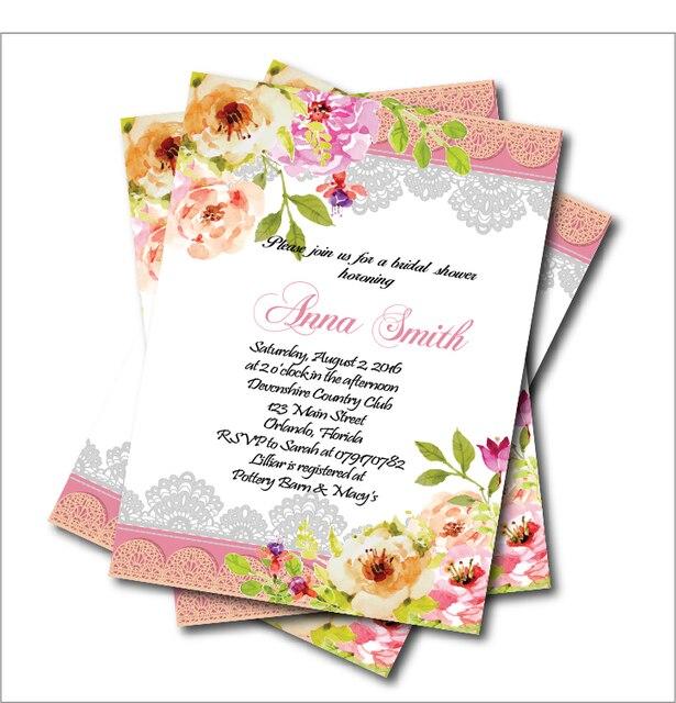 20 Teile Los Vintage Spitze Brautdusche Hochzeit Einladung Aquarell