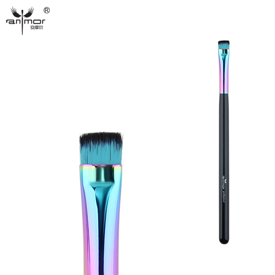 Anmor Synthetic Eyeliner Brush Flat Head Makeup Brushes for Precise Application CFCA-A25