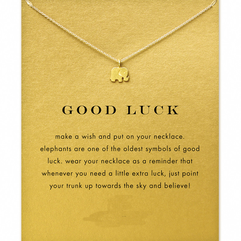 Hot selling best wishes lucky elephant pendant necklace gold best wishes lucky elephant pendant necklace gold color good luck necklace collar colar drop shipping wholesale in chain necklaces from jewelry accessories aloadofball Gallery