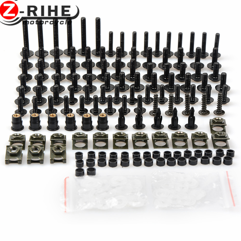 Universal Motorcycle Fairing Body Bolts Spire Screw Nuts For Suzuki GSX1300R Hayabusa GSXR 600 750 1000 K3 K4 K5 K6 K7 K8 K9 K10 new universal brand motorcycle accessories fairing body work bolts screws for suzuki m109r boulevard ducati diavel the devil