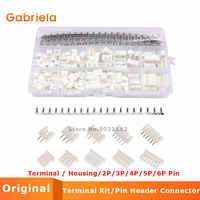 460pcs XH 2.54mm JST Connector Kit with 2.54mm Female Male Terminal / Housing/2P/3P/4P/5P/6P Pin Housing Connector Adapter Plug