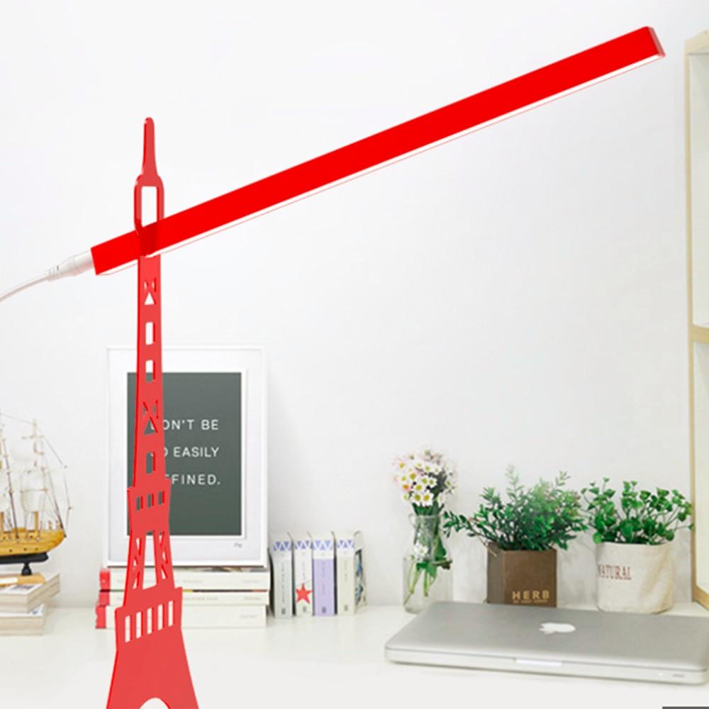 ICOCO 2017 1pcs Adjustable Angle USB charging Paris Eiffel <font><b>Tower</b></font> Eye-Protection Reading Led Table Lamp