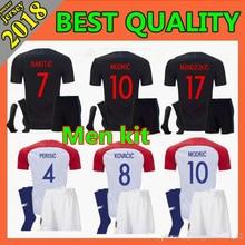 95c7898ef Hot sale 2018 World Cup Croatiaes Soccer Jerseys MODRIC MANDZUKIC RAKITIC  Home Away kit+socks Football Shirts Free shipping