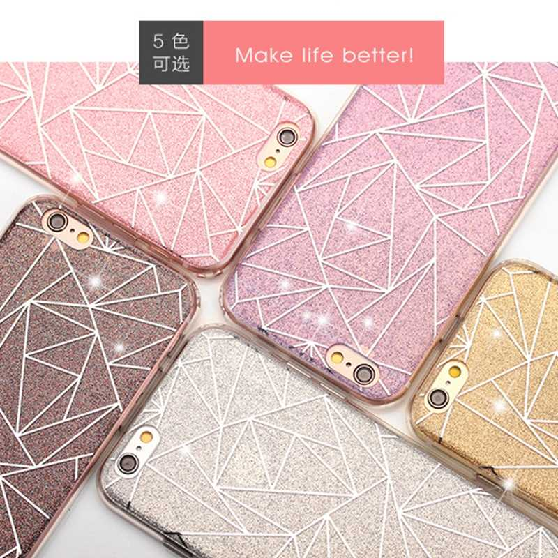 Fundas de teléfono brillantes de lujo para iPhone X 10 funda suave TPU para iPhone XR XS MAX 7 8 Plus 6 6s 5 5 5S SE caso Coque