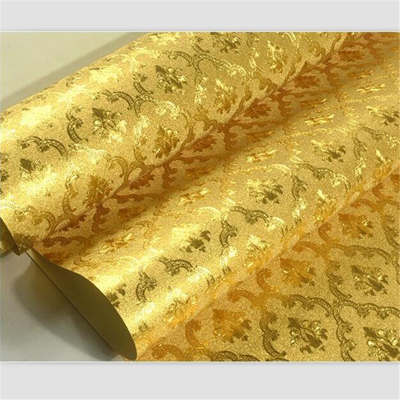 beibehang Wallpaper gold foil gold yellow silver ktv hotel bedroom living room European-style brushed ceiling ceiling wallpaper beibehang wallpaper gold foil brushed texture gold wallpaper ktv gold scrubbing roof paper wallpaper living room wall paper