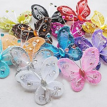 10Pcs/1bag 12 colors to choose Organza Wire Rhinestone Butte
