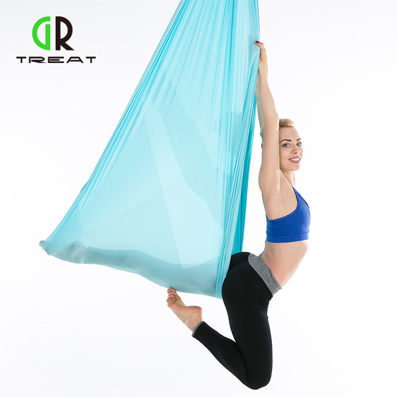 6*2.8m Yoga Hammock Anti-Gravity Pilates Yoga Gym Hanging Belt Swing Body Building Fitness Equipment Aerial Traction Device relefree 14 colors aerial flying anti gravity yoga hammock swing yoga body building workout fitness inversion tool freedrop