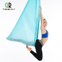 6*2.8m Yoga Hammock Anti Gravity Pilates Yoga Gym Hanging Belt Swing Body Building Fitness Equipment Aerial Traction Device