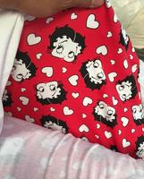 Red Betty Cartoon Lycra Knit Cotton Fabric Plain Weave Sew Patchwork Diy Cloth Mother Daughter Clothing