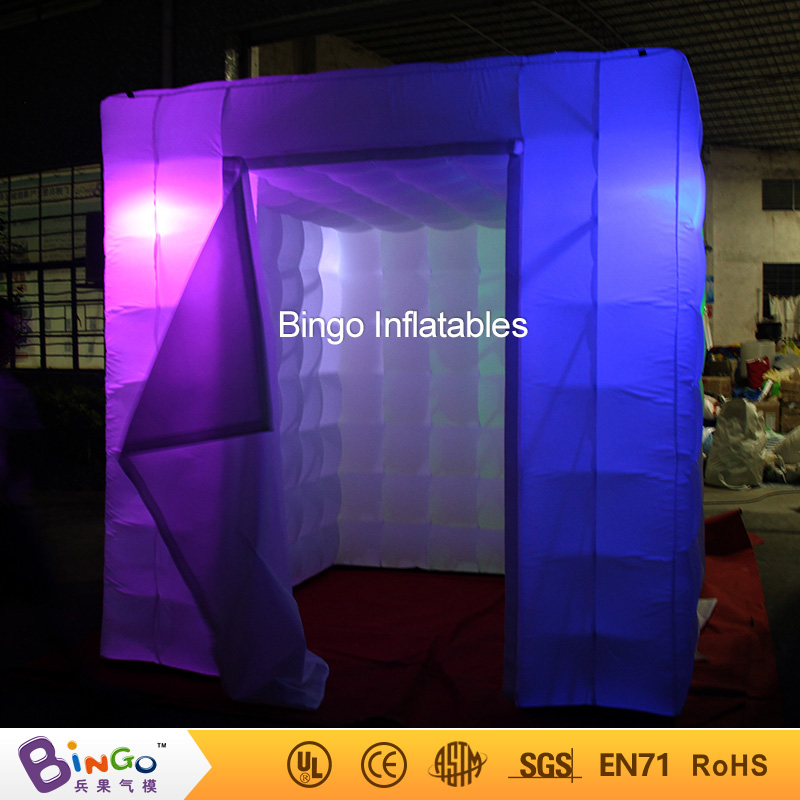 Free Delivery 16 colors change inflatable photo booth 2.4X2.4X2.4 Meters two doors LED lighting blow up photo booth toy tent free shipping oxford material wedding party decoration inflatable the photo booth