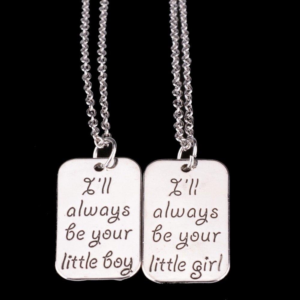 Bespmosp Little Boy Girl Brother Sister Sis Daughter Son Children Pendant Necklace Girls Boys Gift Family Jewelry Collier Choker