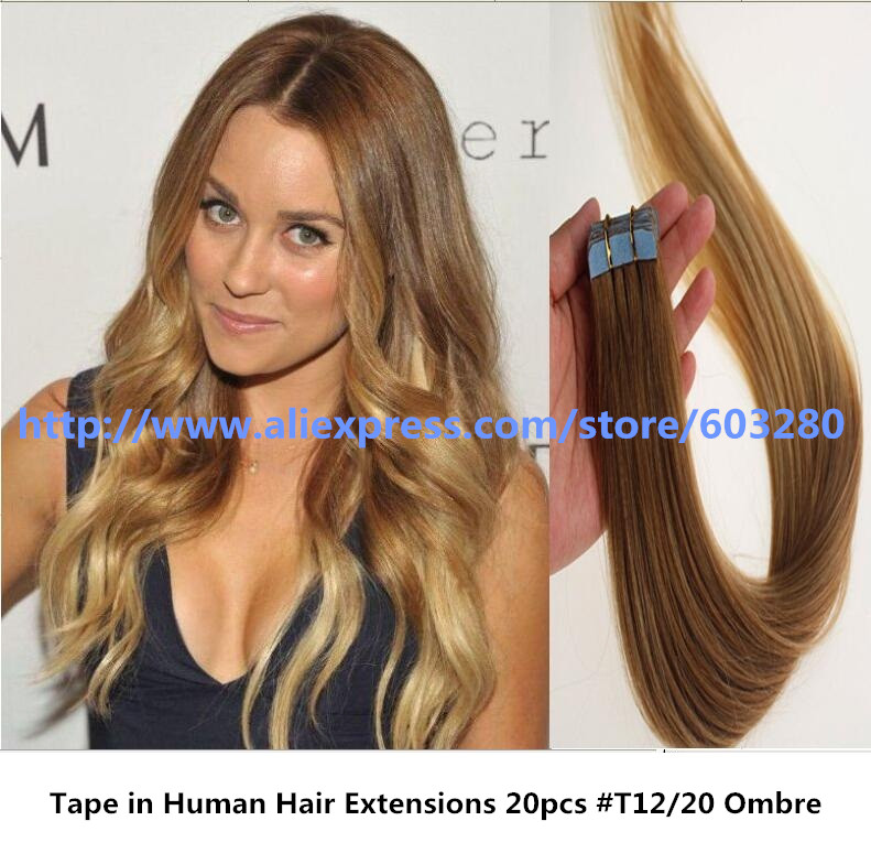Mid Length Ombre Brazilian Hair Color Ideas Tape In Human Hair