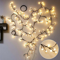 2.5M 72LED Branch String Fairy Light Christmas Garland For New Year Xmas Holiday Curtain Indoor Outdoor Home Decoration MYC