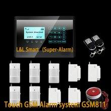 Новый Продажа Проводной 4 + Беспроводной 10 Зон Обороны Беспроводной GSM Охранной Сигнализации Интеллектуальная Система Охранной Сигнализации