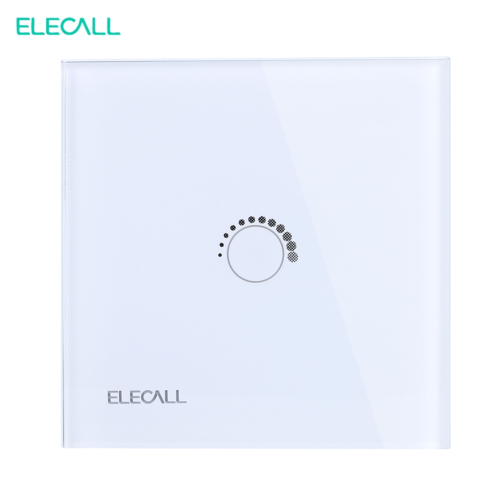 ELECALL SK-A801TY-EU Smart home Touch Switch EU Standard Crystal Glass Panel  Touch Screen Switch white remote control