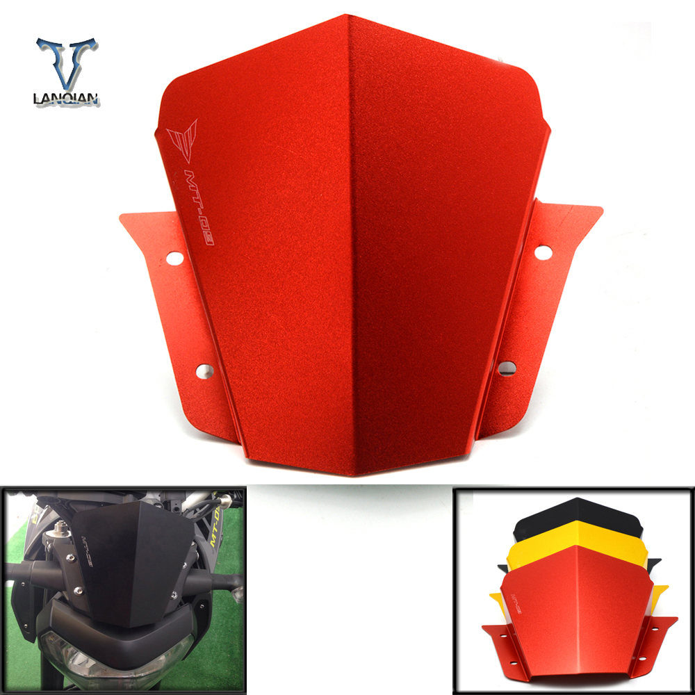 For Yamaha MT 09 MT-09 FZ-09 2014 2015 2016 Windscreen Windshield Front Wind Screen Deflector Cover Motorcycle Street Bikes