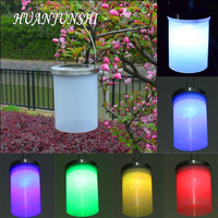3 Color Waterproof Solar Power Hanging Cylinder Lanterns LED Landscape Path Yard Garden Outdoor Holidays Camping