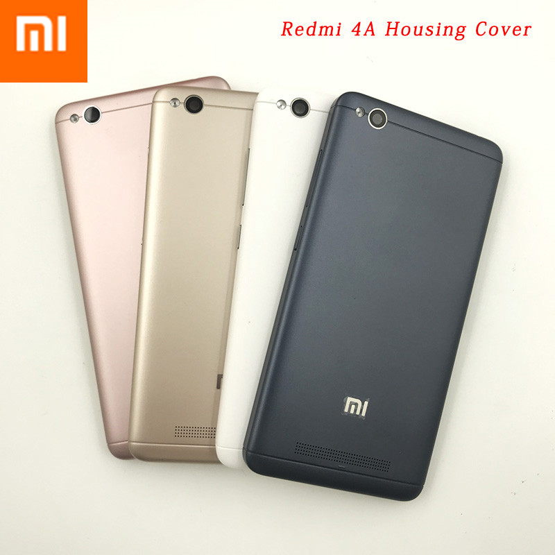 XIAOMI Housing-Cover Battery Case Side-Buttons/flash-Lighter Original Redmi 4A for 4a-Back