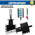 H1 Led Single Beam Car Headlight 90w 12000LM 6000K Xenon White Auto Head Lamp Fog Light Conversion Kit Replace HID lamp