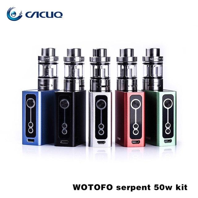 Wotofo originais Serpent 50 W Box Mod Kit Completo com Embutido de Alta Descarga Da Bateria 2000 mAh Cigarro Eletrônico Serpente 50 W Kit