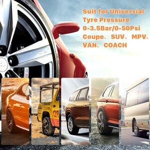 Image 3 - Solar Auto Tire Pressure Monitoring System TPMS Auto 4 Sensor Reifen Druck Alarm Che Tester
