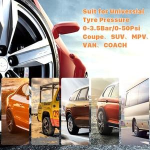 Image 3 - Solar Car Tire Pressure Monitoring System TPMS Auto 4 Sensor Tyre Pressure Alarm Guage Tester