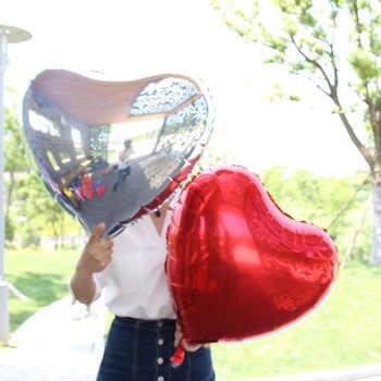 """ขายส่ง100ชิ้น/ล็อตขนาดใหญ่24นิ้วบอลลูนหัวใจปานกลาง24 \""""ดาวฟอยล์ลูกโป่งสำหรับงานแต่งงานงานเลี้ยงวันเกิดของตกแต่งร้อนg lobos"""