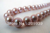Hot sale>@@ HUGE 1815MM PERFECT SOUTH SEA GENUINE GOLDEN LAVENDER PEARL NECKLACE