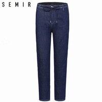 SEMIR jeans men jogger pants men's Elasticity classic jeans male denim jeans Designer Trousers chic fashion pants sporty blue