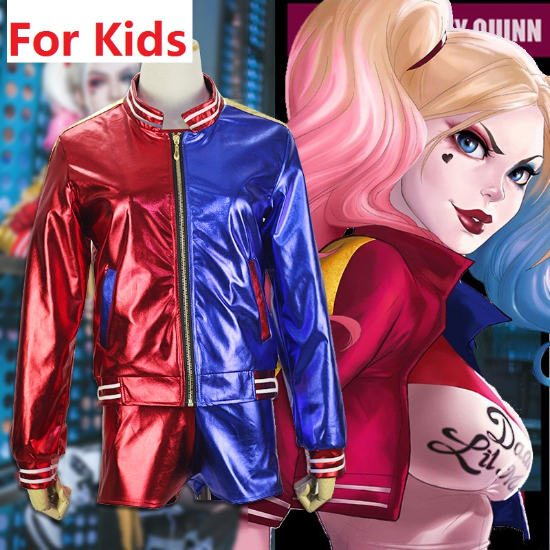 0f5b39d9a classic joker and harley suicide squad costumes wig jacket girls ...