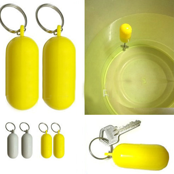 Anti-lost Buoyant Keyring Kayak Floating Key Ring Finder Marine Sailing Boat Float Canal Keychain Water Sports Fish Float