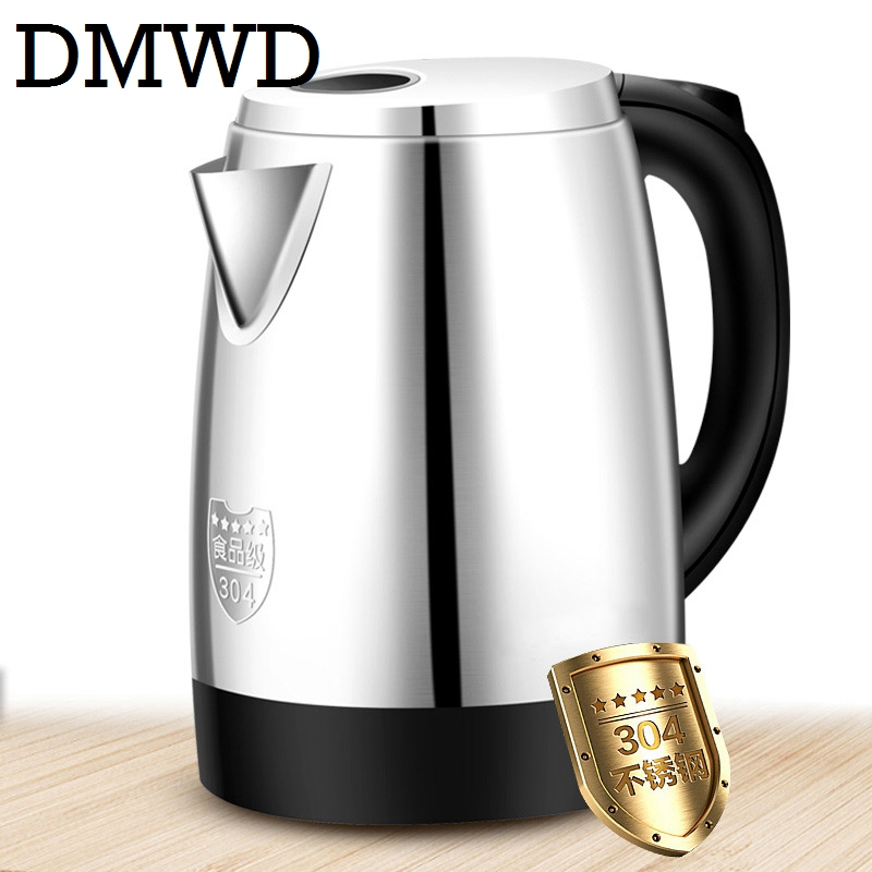 DMWD 1.7L Split Style electric kettle Stainless Steel Pots Auto Turn Off Hot water Heating Kettles teapot 220V 1800w EU US plug dmwd split style stainless steel electric kettles quick heating auto water boiler heater tea pot strong packing 220v 1 5l eu us