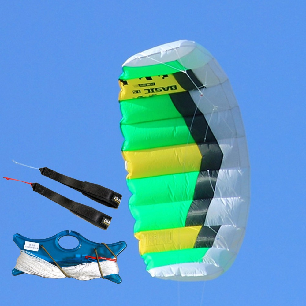 Dual Line Parafoil Power Kite 1.0sqm Stunt Kite With Wrist Strap Kite Line for Outdoor Sport Beginner Trainning