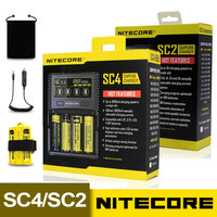 NITECORE SC4 SC2 Intelligent Faster Charging Superb Charger 4 Slots 6A Total Output Compatible IMR 18650 14450 16340 AA Battery