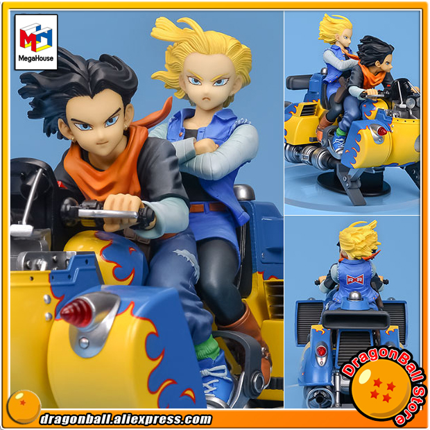 Japan Anime DRAGONBALL Dragon Ball Z Original MegaHouse DESKTOP REAL McCOY Complete Toy Figure Series 04 - Android No.17 & 18