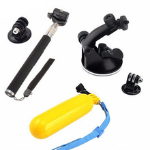 Sports Camera Accessories Set 6 in 1 Floaty Floating Hand Grip Monopod Tripod Adapter Suction Cup for Gopro Hero 5 4 3 2 1