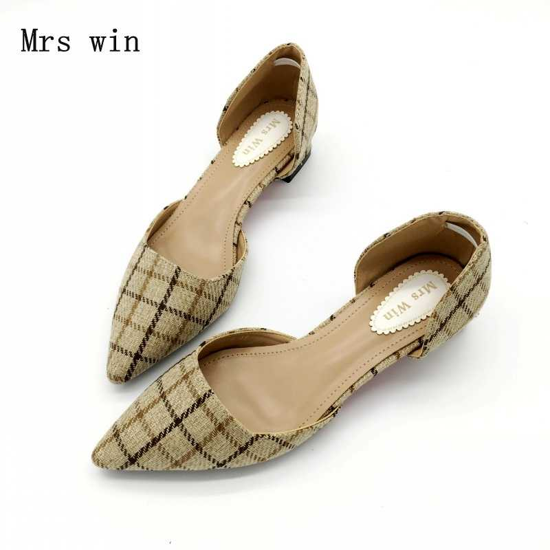 9ac5f936e696 2018 New Summer Shoes Women Fashion Female Cover Heel Sandals Square Med  Heel Ladies Work Plaid