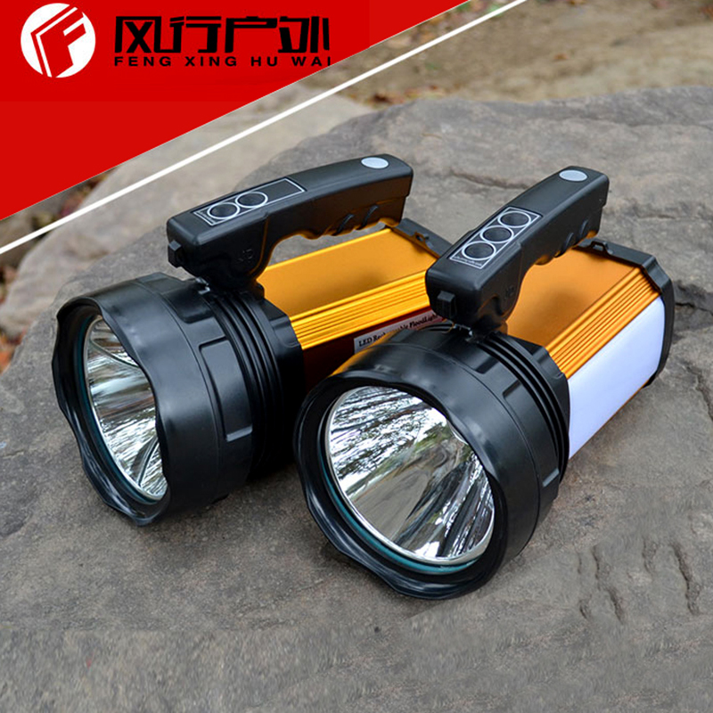 Portable Rechargeable Camping Lanterns LED Hunting Spotlight Search Light 30w 60w Handheld Led Spot Light Battery Powered new multifunction rechargeable led camping light lanterns solar powered fan outdoor portable lanterns solar tent light lam lamp