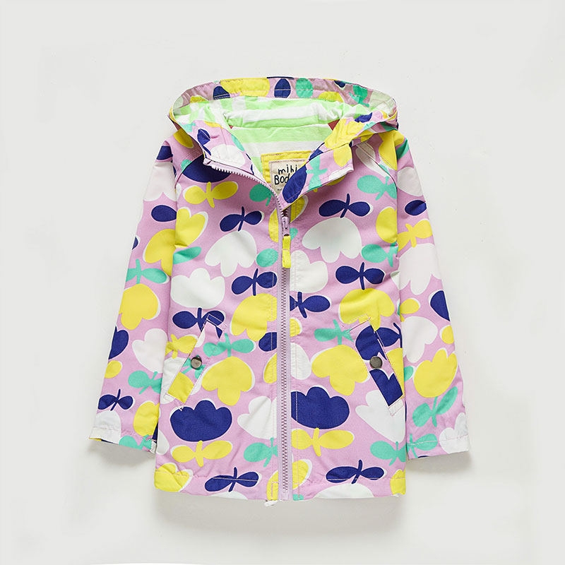 Children Outwear Hooded Jacket Long-sleeved Kids Windbreaker Flower Printed Girls Jacket Coats New Autumn Fashion Girls Clothes 2015 new girls design jacket luxury brand child outwear flower printed coat