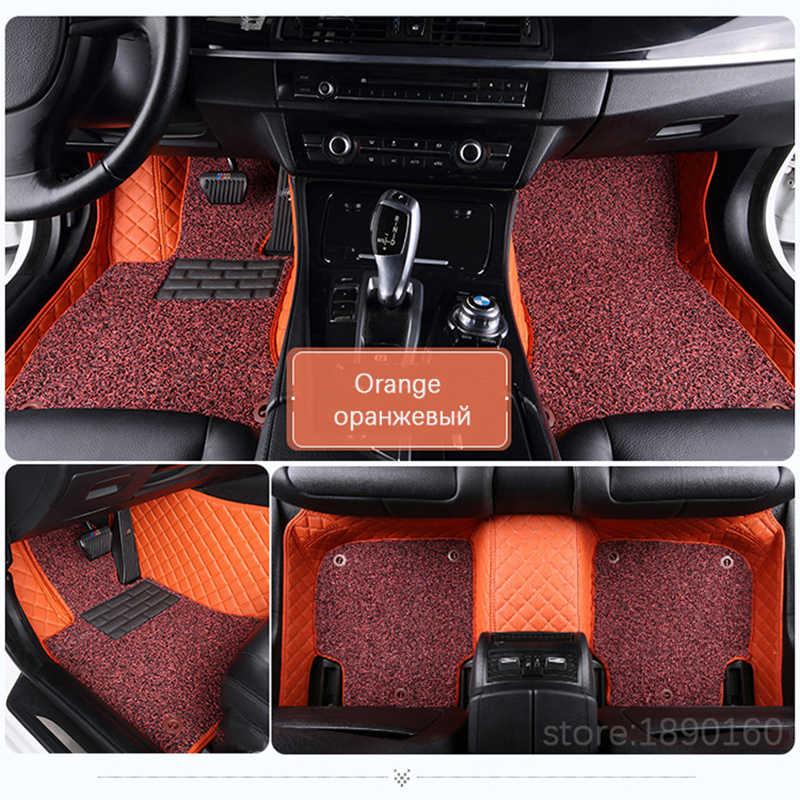 Tapis de sol de voiture sur mesure pour Toyota tous les modèles Corolla Camry Rav4 Auris Prius Yalis Avensis 2014 accessoires tapis de sol de style automatique