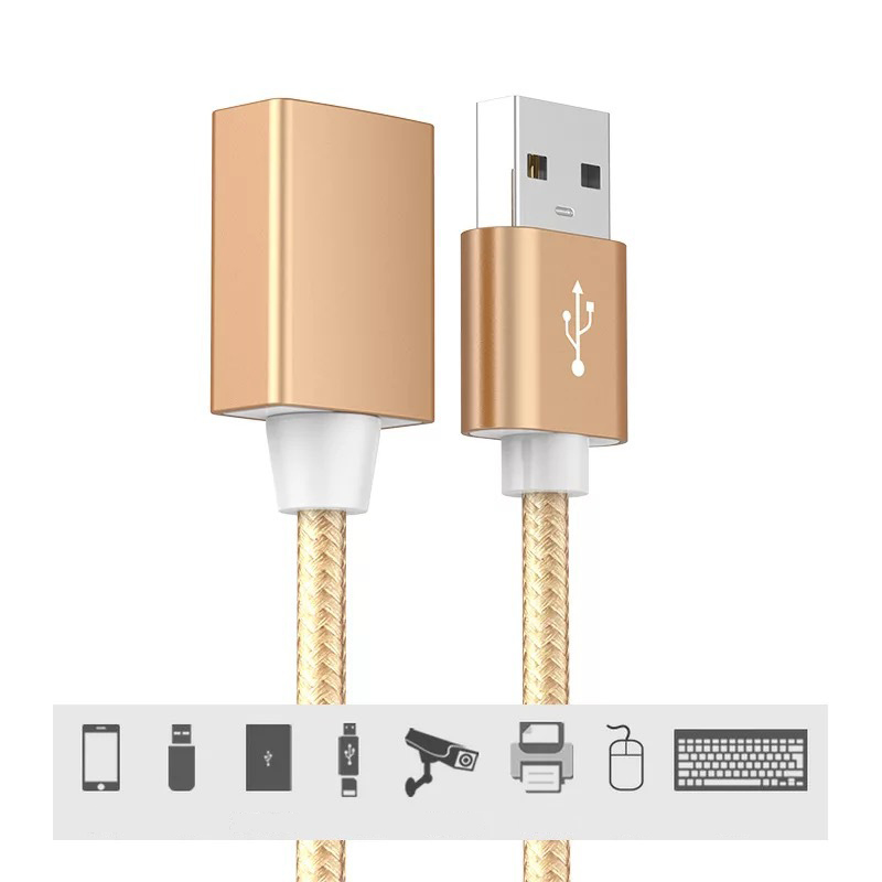 60cm USB 2.0 Female To A Male Extension Cable Cord PC Keyboard Printer Camera Mouse Game Controller Data Sync Transfer-in Computer Cables & Connectors from Computer & Office
