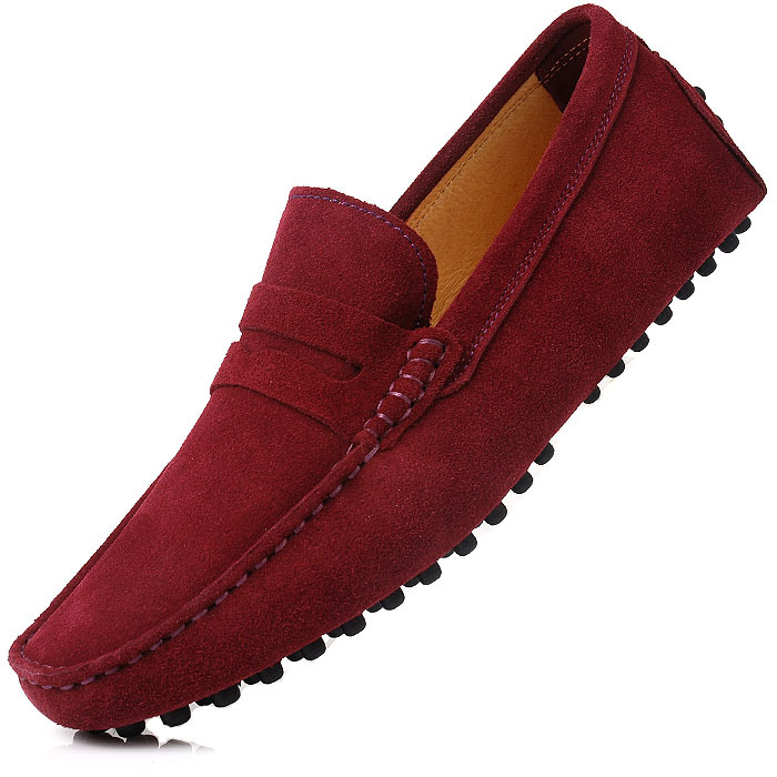 6dd18091d25 Classic boat shoes light comfortable male casual loafers gommini maroon