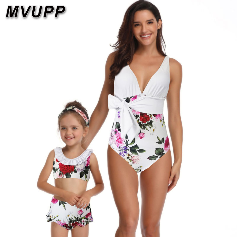 HTB1.7RMaPDuK1RjSszdq6xGLpXa0 mother daughter swimsuit family matching outfits swimwear mommy and me clothes mom baby bikini mama look high waist summer